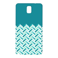 Zigzag Pattern In Blue Tones Samsung Galaxy Note 3 N9005 Hardshell Back Case by TastefulDesigns
