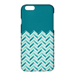 Zigzag Pattern In Blue Tones Apple Iphone 6 Plus/6s Plus Hardshell Case by TastefulDesigns