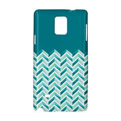 Zigzag Pattern In Blue Tones Samsung Galaxy Note 4 Hardshell Case by TastefulDesigns