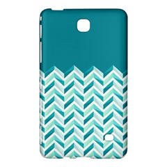 Zigzag Pattern In Blue Tones Samsung Galaxy Tab 4 (8 ) Hardshell Case  by TastefulDesigns