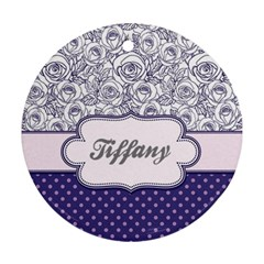 Pattern Purple 2 Ornament (Round) by makeunique