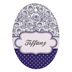 Pattern Purple 2 Ornament (oval) by strawberrymilkstore8