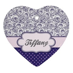 Pattern Purple 2 Ornament (heart) by makeunique