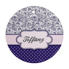 Pattern Purple 2 Round Ornament (two Sides)