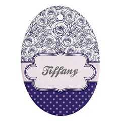Pattern Purple 2 Oval Ornament (two Sides) by makeunique