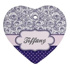 Pattern Purple 2 Heart Ornament (two Sides) by strawberrymilkstore8
