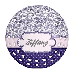 Pattern Purple 2 Ornament (round Filigree) by strawberrymilkstore8