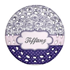 Pattern Purple 2 Round Filigree Ornament (two Sides) by strawberrymilkstore8