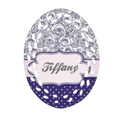 Pattern Purple 2 Ornament (oval Filigree) by makeunique