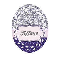 Pattern Purple 2 Oval Filigree Ornament (two Sides) by makeunique