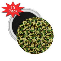 Camo Woodland 2.25  Magnets (10 pack)