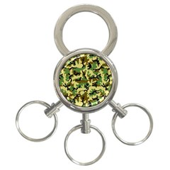Camo Woodland 3 Ring Key Chains by sifis