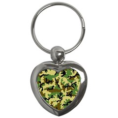 Camo Woodland Key Chains (heart)  by sifis