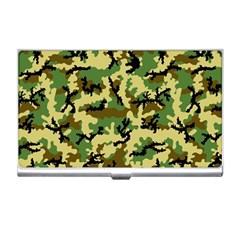Camo Woodland Business Card Holders by sifis
