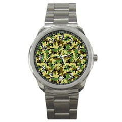 Camo Woodland Sport Metal Watch by sifis