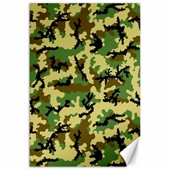 Camo Woodland Canvas 20  X 30   by sifis