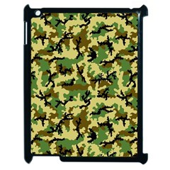 Camo Woodland Apple Ipad 2 Case (black) by sifis