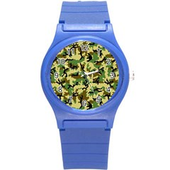 Camo Woodland Round Plastic Sport Watch (s) by sifis