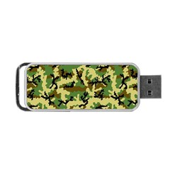 Camo Woodland Portable Usb Flash (one Side) by sifis