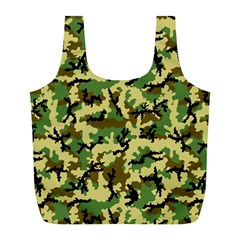 Camo Woodland Full Print Recycle Bags (l)  by sifis