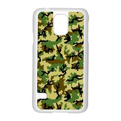 Camo Woodland Samsung Galaxy S5 Case (White) by sifis