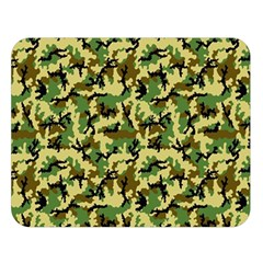 Camo Woodland Double Sided Flano Blanket (large)  by sifis