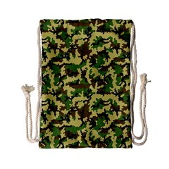 Camo Woodland Drawstring Bag (small) by sifis