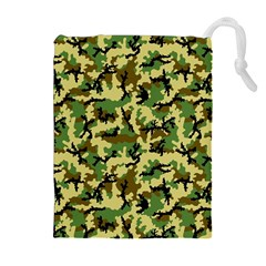 Camo Woodland Drawstring Pouches (extra Large) by sifis