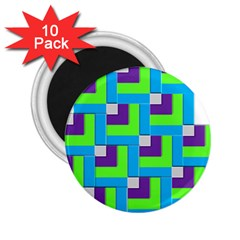 Geometric 3d Mosaic Bold Vibrant 2 25  Magnets (10 Pack)  by Amaryn4rt