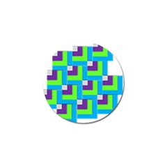 Geometric 3d Mosaic Bold Vibrant Golf Ball Marker (4 Pack) by Amaryn4rt
