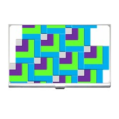 Geometric 3d Mosaic Bold Vibrant Business Card Holders by Amaryn4rt