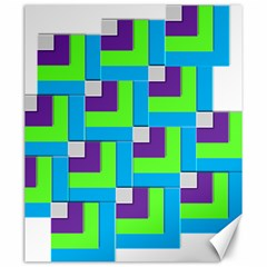 Geometric 3d Mosaic Bold Vibrant Canvas 20  X 24   by Amaryn4rt