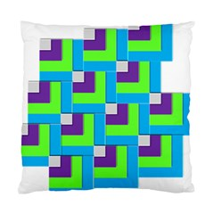 Geometric 3d Mosaic Bold Vibrant Standard Cushion Case (two Sides) by Amaryn4rt