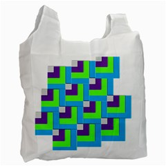 Geometric 3d Mosaic Bold Vibrant Recycle Bag (one Side) by Amaryn4rt