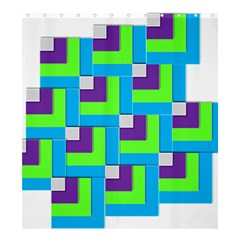 Geometric 3d Mosaic Bold Vibrant Shower Curtain 66  X 72  (large)  by Amaryn4rt
