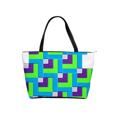 Geometric 3d Mosaic Bold Vibrant Shoulder Handbags by Amaryn4rt