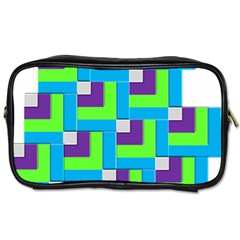 Geometric 3d Mosaic Bold Vibrant Toiletries Bags by Amaryn4rt