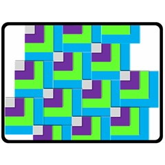 Geometric 3d Mosaic Bold Vibrant Fleece Blanket (large)  by Amaryn4rt
