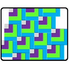 Geometric 3d Mosaic Bold Vibrant Fleece Blanket (medium)  by Amaryn4rt