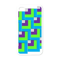 Geometric 3d Mosaic Bold Vibrant Apple Iphone 4 Case (white) by Amaryn4rt