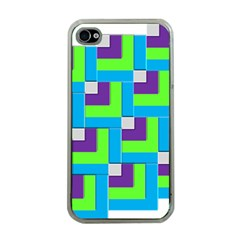 Geometric 3d Mosaic Bold Vibrant Apple Iphone 4 Case (clear) by Amaryn4rt