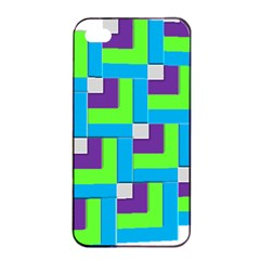 Geometric 3d Mosaic Bold Vibrant Apple Iphone 4/4s Seamless Case (black) by Amaryn4rt