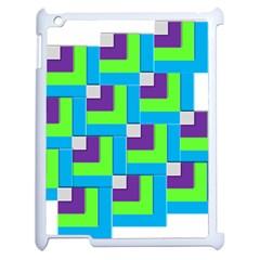 Geometric 3d Mosaic Bold Vibrant Apple Ipad 2 Case (white) by Amaryn4rt