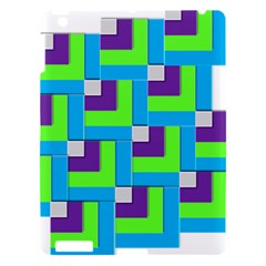 Geometric 3d Mosaic Bold Vibrant Apple Ipad 3/4 Hardshell Case by Amaryn4rt
