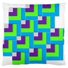 Geometric 3d Mosaic Bold Vibrant Large Cushion Case (two Sides) by Amaryn4rt