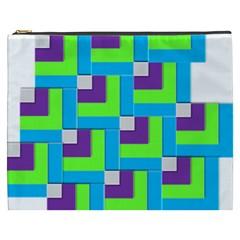 Geometric 3d Mosaic Bold Vibrant Cosmetic Bag (xxxl)  by Amaryn4rt