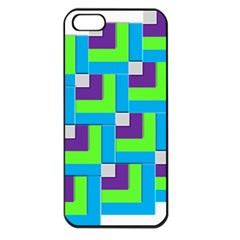 Geometric 3d Mosaic Bold Vibrant Apple Iphone 5 Seamless Case (black) by Amaryn4rt