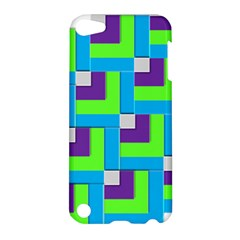 Geometric 3d Mosaic Bold Vibrant Apple Ipod Touch 5 Hardshell Case by Amaryn4rt