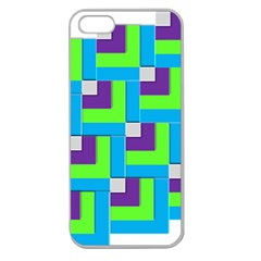 Geometric 3d Mosaic Bold Vibrant Apple Seamless Iphone 5 Case (clear) by Amaryn4rt