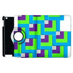 Geometric 3d Mosaic Bold Vibrant Apple Ipad 3/4 Flip 360 Case by Amaryn4rt